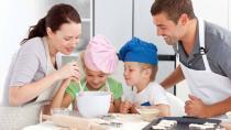 """厨房因孩子变得更有""""活力"""""""